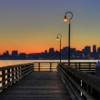Seattle Skyline from the Pier at Sunrise — Stock Photo #5808984