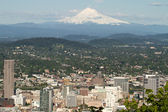 Portland Oregon Cityscape with Mount Hood — Stock Photo