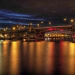 Burnside Bridge across Willamette River Portland Oregon — Stock Photo