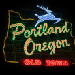 Historic Portland Oregon Old Town Sign - Stock Photo