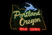Historic Portland Oregon Old Town Sign — Stock Photo