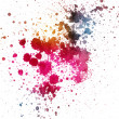 Stock Photo: Colorful ink splatter