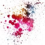 Colorful ink splatter — Stock Photo