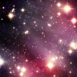 Illustrated pink stars and nebula — Stock Photo