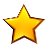 3D golden star — Stock Photo