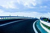 Modern highway curve — Zdjęcie stockowe