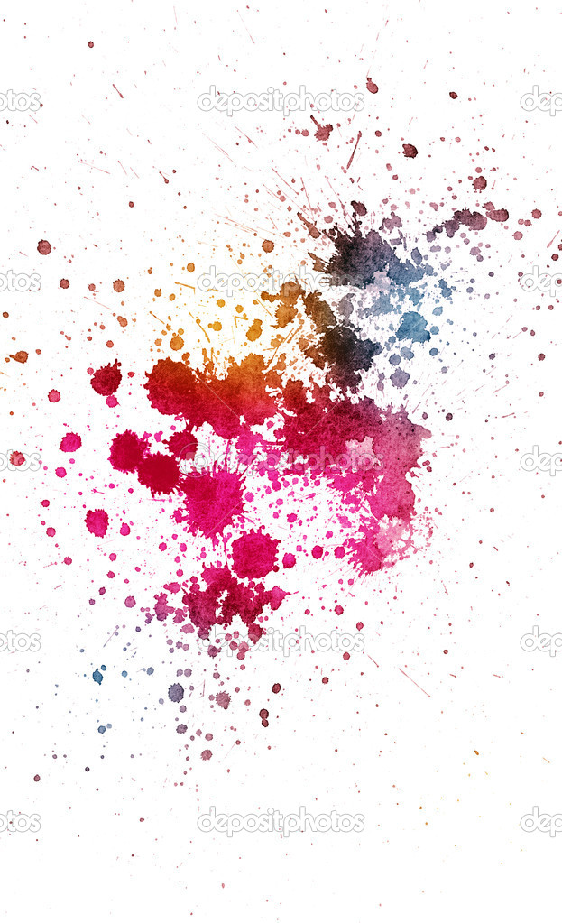 Color Splatter Background Ink Splatter in Various Colors