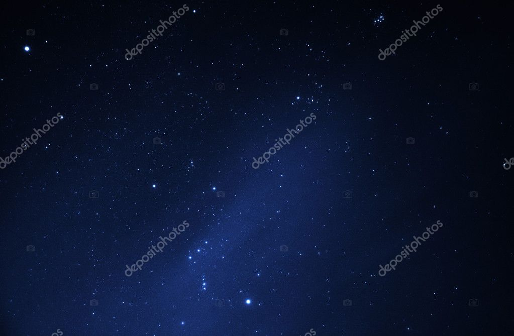 Bright stars in blue night sky — Stock Photo #5554160