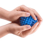 Woman hands with massage ball — Stock Photo