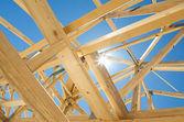 строительство новых домов каркасной — Стоковое фото