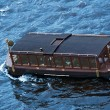 Touristic ship on the river Vltava in Prague - Stockfoto