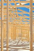 Framing construcción de casas nuevas — Foto de Stock