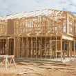 New home construction framing. — Stock Photo #6158077