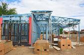 Nueva estructura de construcción de viviendas — Foto de Stock