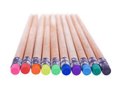 Pencils with erasers — Stock Photo