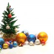 Christmas tree and ornaments — Stock Photo #5981218