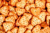 Hjärtat består av en knäckt på en bakgrund av andra cookies 2 — Stockfoto