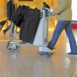 Airport cart - Stock Photo