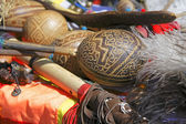 The Andes instruments- maracas — Stock Photo