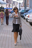 Businesswoman in a hurry — Stock Photo