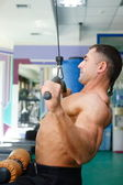 Sportsmen and gym — Stock Photo
