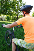 велосипедиста пешком — Стоковое фото