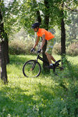 Radfahrer im gange — Stockfoto
