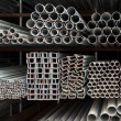 Metal pipe stack — Stockfoto