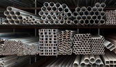 Metal pipe stack — Stock Photo