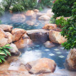 Stock Photo: Foggy water pool feature