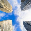 Buildings pointing towards the sky - Stock Photo
