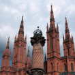 Wiesbaden Market Church detail — Stock Photo
