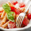 Royalty-Free Stock Photo: Pasta with fresh tomatoes and parmesan cheese