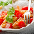 Pasta with fresh tomatoes — Stock Photo #6387853