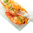 Catalan lobster- aragosta alla catalana — Stock Photo