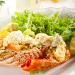 Lobster with mayonnaise sauce — Stock Photo