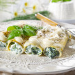 Cannelloni ricotta spinach — Stock Photo #6392431