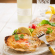 Scallop au gratin — Stock Photo