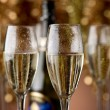 Flutes with champagne — Stock Photo
