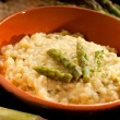 Risotto with asparagus — Stock Photo