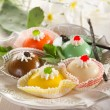 Variety of cassate sicily dessert — Stock Photo