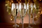 Flautas de champán — Foto de Stock