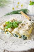 Cannelloni ricotta&spinach-cannelloni ricotta spinaci — Stock Photo