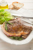 Grilled t.bone on dish — Stock Photo
