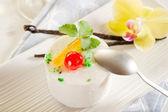 Variety of cassate sicily dessert — Stock Photo