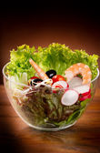Mixed salad-insalata mista — Stock Photo
