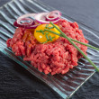 Tartare meat — Stockfoto