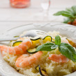 Royalty-Free Stock Photo: Couscous with shrimp and zucchinis