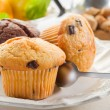 Muffin on dish — Stock Photo #6403853