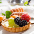 Stock Photo: Fruits dessert